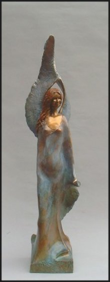 Peace Angel Bronze Sculpture 48 in