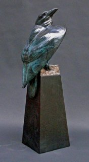 Raven's Cache Bronze Sculpture 24 in Sculpture - Leo E. Osborne