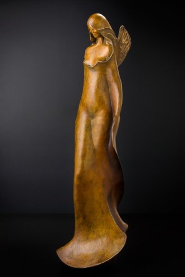 Young Angel Bronze Sculpture 48 in