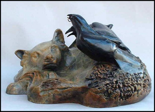 Woodland Spirits Bronze Sculpture 15x12