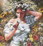 Scent of Spring 33x29 Original Painting - Arkady Ostritsky