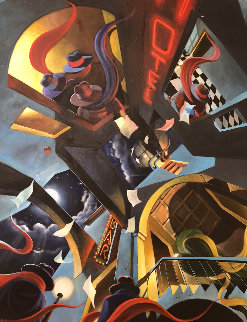 Enigma II 2005 50x62 Original Painting - Victor Ostrovsky