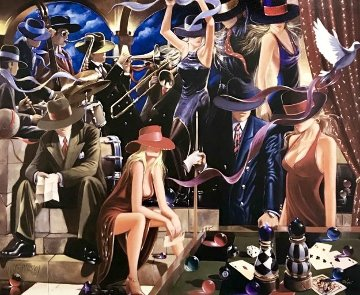 End Game  Triptych 2006 72x90 Limited Edition Print - Victor Ostrovsky