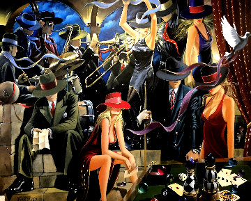 End Game 2006 48x60 Original Painting - Victor Ostrovsky