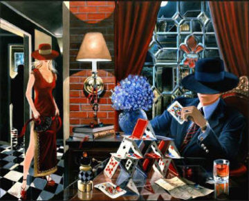 House of Cards 2003 Embellished Limited Edition Print - Victor Ostrovsky
