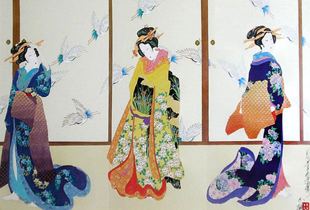 Three Graces of Ukiyo-e