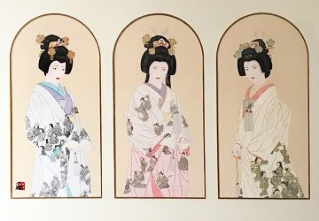 Three Eternal Brides Triptych 1993 Limited Edition Print - Hisashi Otsuka