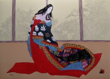 Lady of Noh 1989 Limited Edition Print - Hisashi Otsuka
