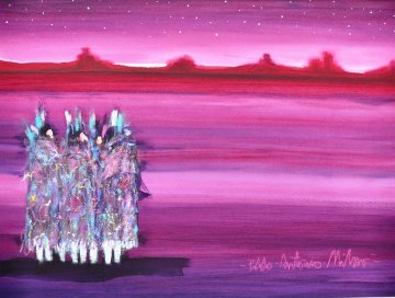 Monument Valley 1989 38x31 Original Painting - Pablo Antonio Milan