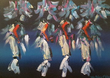 Kachina Dancers 30x40 Original Painting - Pablo Antonio Milan