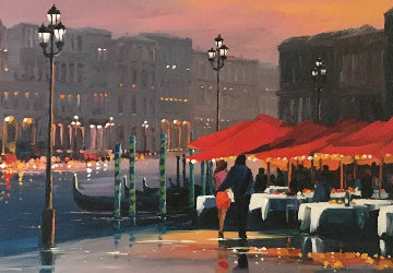 Lights of Venice Embellished Limited Edition Print - Charles H Pabst
