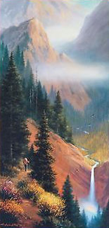 Out of the Woods 2000 24x39 Original Painting - Charles H Pabst