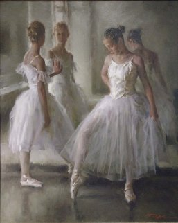 Ballerinas 40x34 Original Painting - Stephen Pan