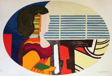 Piano Blues - Profile De Femme 1989 Limited Edition Print - Max Papart