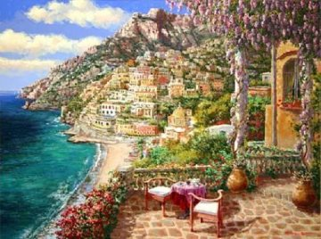 Positano Patio 2010 Embellished Limited Edition Print - Sam Park