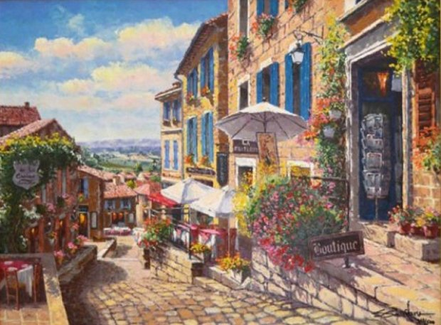 Streets of St. Emilion Embellished  2010