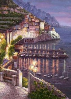 Night View of Amalfi 2010 Limited Edition Print - Sam Park