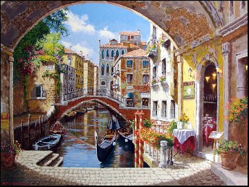 Archway to Venice 2003 Embellished Limited Edition Print - Sam Park
