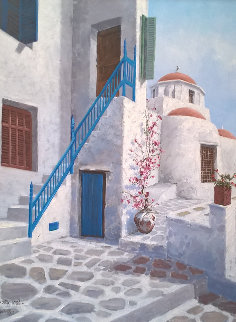 Greece Photos 1986 32x24 Original Painting - Sam Park