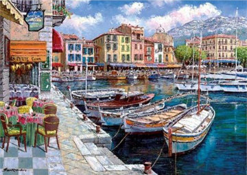 Cafe in Cassis PP Limited Edition Print - Sam Park