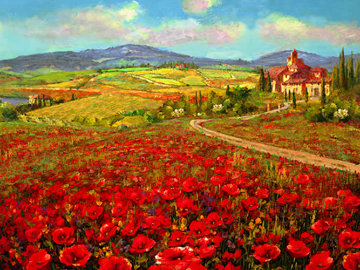 Tuscany Summer 2007 Embellished  Limited Edition Print - Sam Park