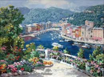 Bellagio, Varenna, Portofino, And Venezia (Treasures of Italy Suite of 4) AP 2000 Limited Edition Print - Sam Park
