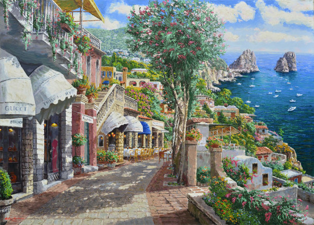 Afternoon in Capri 2002 Embellished