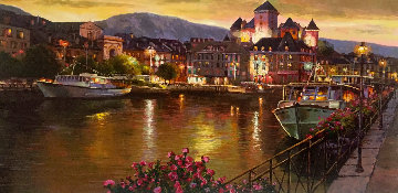 Annecy Night 1999 AP Limited Edition Print - Sam Park