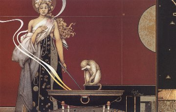 Sacred Fire 1 Limited Edition Print - Michael Parkes