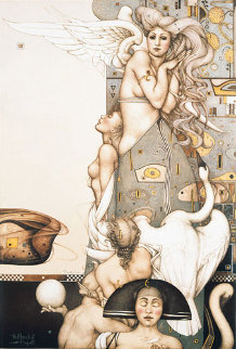 Angel That Stops Time 1992 Limited Edition Print - Michael Parkes