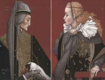Dante and Beatrice Set of 2  Limited Edition Print - Michael Parkes