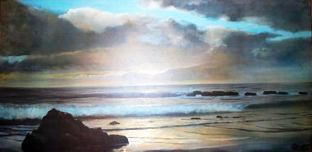 Untitled California Seascape  1969 28x53