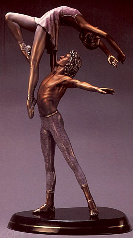 Fragrance of Love Maquette Bronze Sculpture by Ramon Parmenter