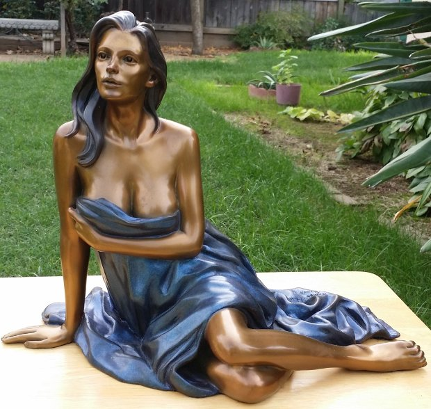Splendor Bronze Sculpture 2000 15 in