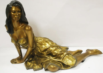Tranquility Bronze Sculpture 1999 26 in Sculpture - Ramon Parmenter