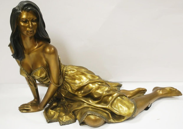 Tranquility Bronze Sculpture 1999 26 in