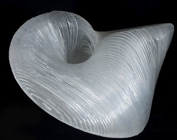 Rhythmic Form Acrylic Sculpture 2008 20 in Sculpture - Jitendra Patel