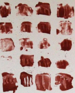Little Red Shapes 1991 Limited Edition Print - Pat Steir