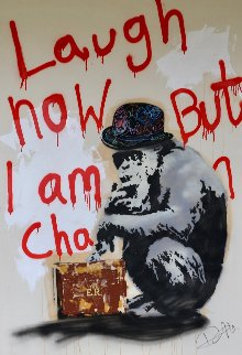 Laugh Now But I Am in Charge 2014 58x40 Original Painting - Dom Pattinson