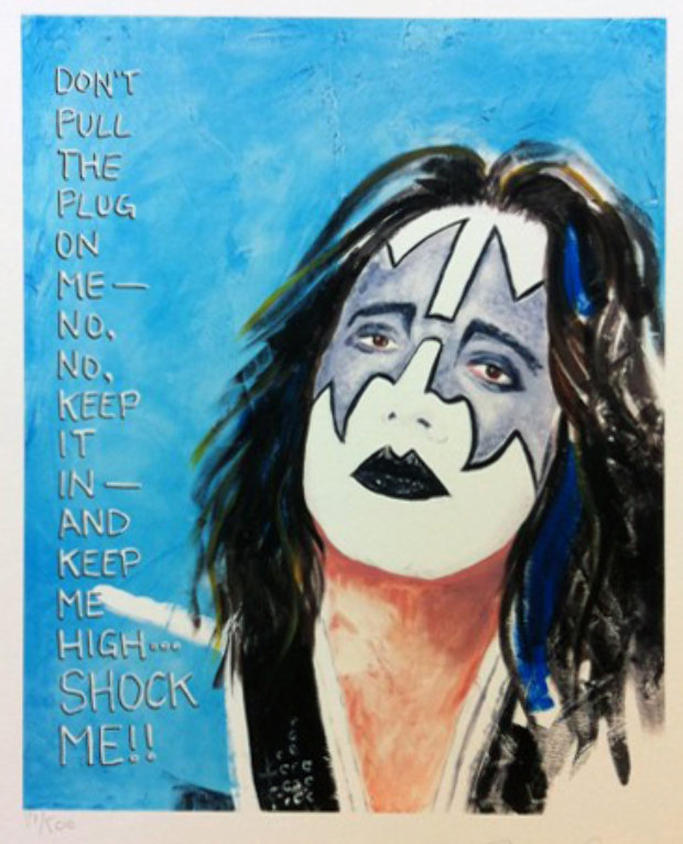 Original Kiss Band Members, Porfolio of 4 Lithographs 2007