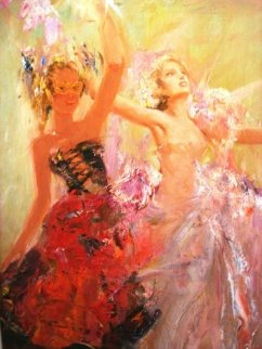 First Ball 2011 48x37 Original Painting - Misti Pavlov
