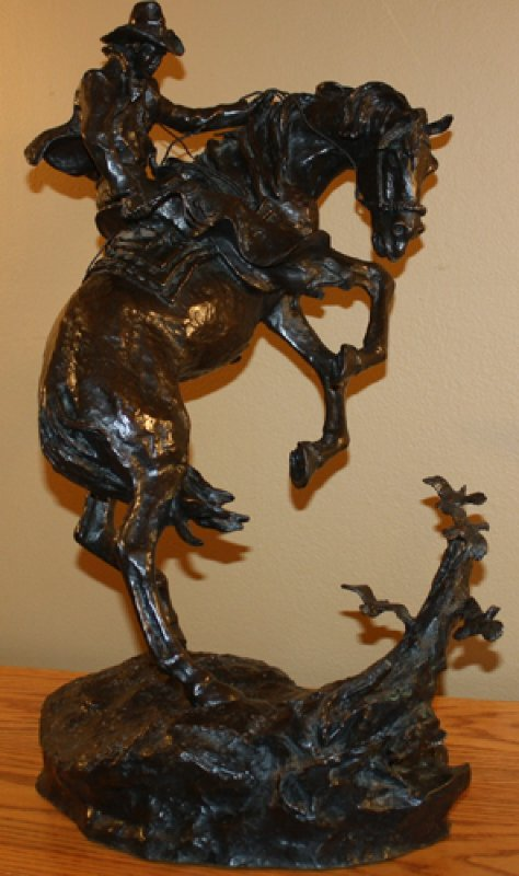 Surprise Meeting Bronze Sculpture 22 in