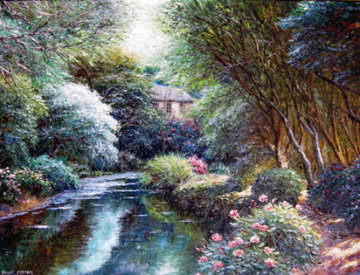 Taunton Stream 2008 46x58 Original Painting - Henry Peeters
