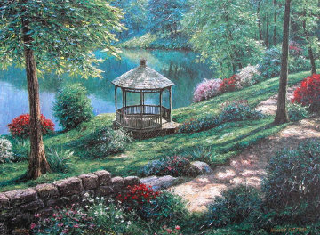 Buchart Gardens Embellished 2002 Canada Limited Edition Print - Henry Peeters