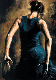 Flamenco II Embellished 2012 Limited Edition Print - Fabian Perez