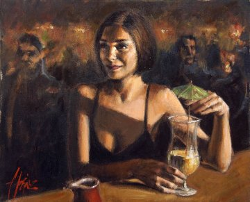 Cocktail in Maui AP 2005 Limited Edition Print - Fabian Perez