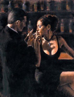 When the Story Begins 42x52 Original Painting - Fabian Perez