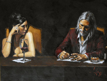 Monica and Fabian II 2007 40x30 Original Painting - Fabian Perez