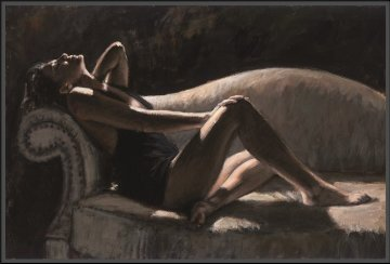 Paola on the Couch 2007  Limited Edition Print - Fabian Perez