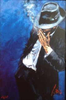Man in Black Suit 2008 Limited Edition Print - Fabian Perez
